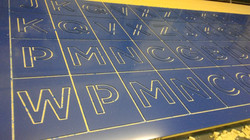 Acrylic Letters for stencil work