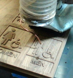 CNC router routing signs