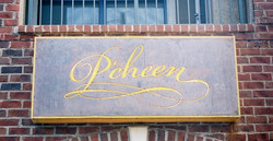 Patina Copper and Acrylic sign