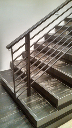 Metal staircase side view