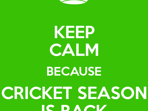 CRICKET RETURNS THIS SATURDAY, 11TH JULY!!