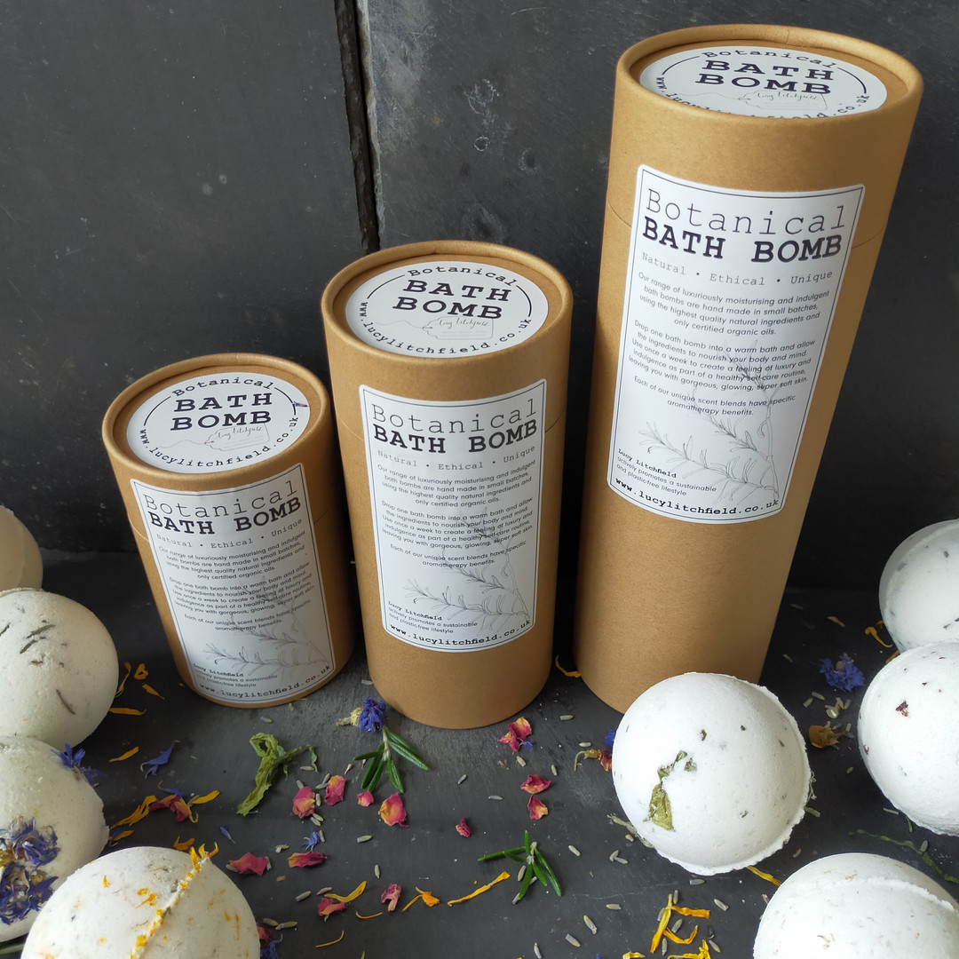 Beautiful Botanical Bath Bombs housed in their new tubes!