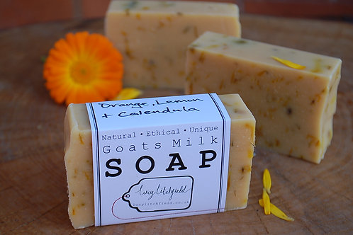 Orange, Lemon & Calendula Goats Milk Soap