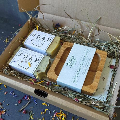 Bamboo Soap Dish Gift Box