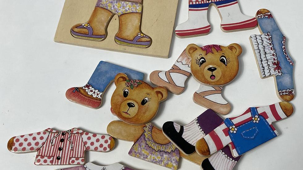 Wooden Bear Mix-and-Match Dressup