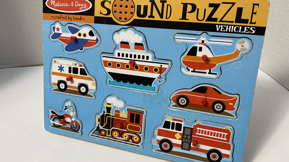 Melissa and Doug Vehicles Wooden Sound Puzzle