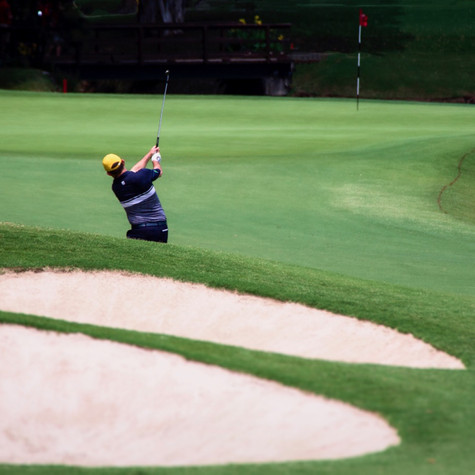 Greg Chalmers approaches the 7th