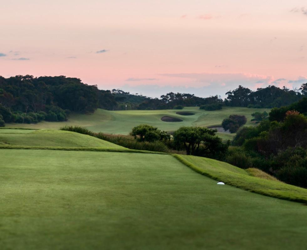 1st hole at daybreak