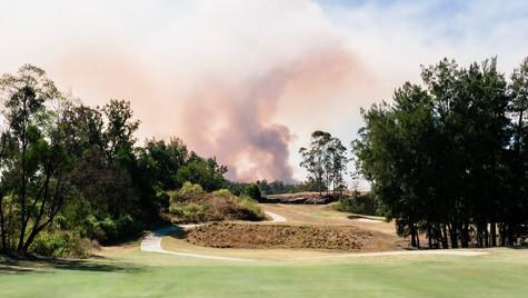 Nearby bushfire