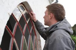 Restaurering af gamle vinduer.