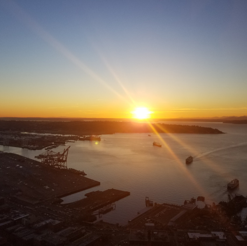 Sunset from the Columbia Tower