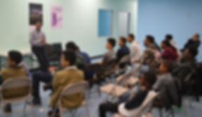 Teen mentoring program in session