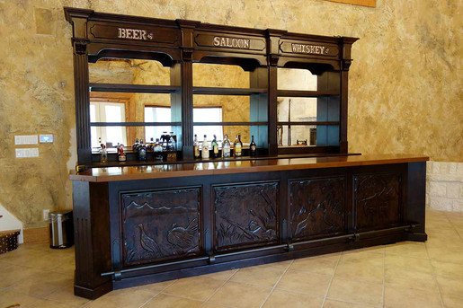 Large Custom Design Western Bar