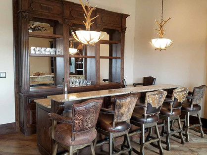 Western Bar and Hand Crafted Bar Stools