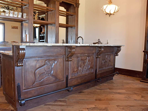 Hand Carved Ranch Style Bar