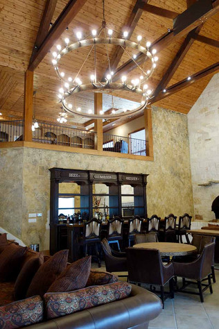 Beautiful Large Chandelier and Western Bar