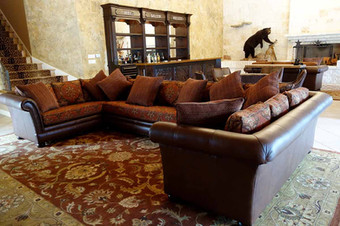Luxurious Sectional and Matching Rug