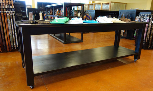 Large Rolling Display Tables