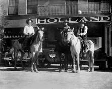 Yesteryear Customers on Horseback
