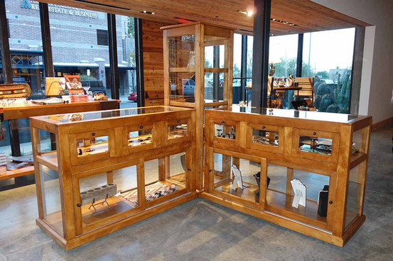 Ranch Rack Tall Rolling Display Cabinet and Showcases