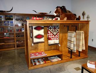 Ranch Rack Custom Display Cabinet with Wheels