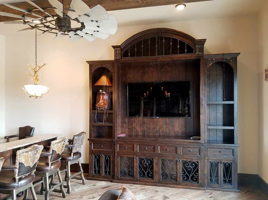 Hand Crafted Entertainment Center