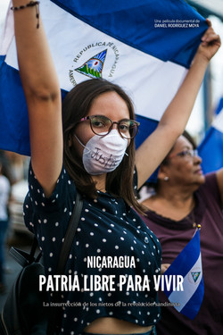 Cartel original del documental Nicaragua, patria libre para vivir.