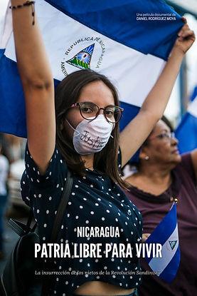 Cartel documental Nicaragua, patria libre para vivir
