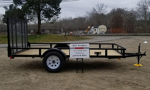 """6'4""""x10 heavy duty landscape utility trailer by Currahee (spare is optional 100."""