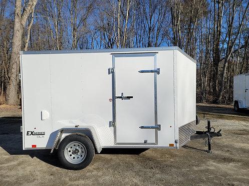 6x10 Cargo Express Side Door Ramp Door One Piece Aluminum Roof