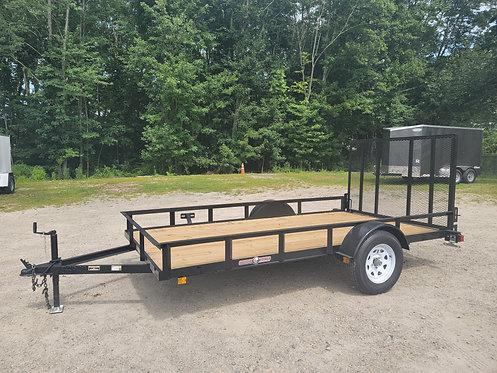 """6'4""""x12 heavy duty landscape utility trailer by Currahee"""