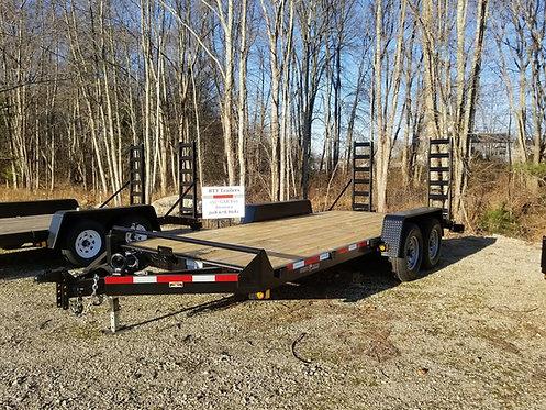 """82""""x18 12k with 8 lugs 16: tires Equipment Hauler Adjustable head flip up ramps"""