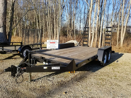 "82""x 16' 10k Currahee Equipment hauler with adjustable head and flip up ramps"