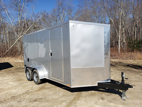 """7x14 V-Nose Pace bonded skin 6'6"""" jacks d rings with ramp"""