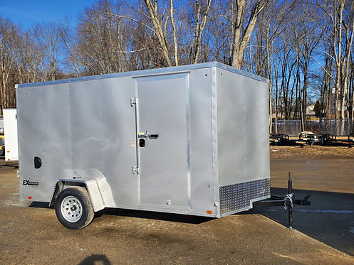 "6x12 Vnose 6'6"" One Piece Aluminum Roof Side Door Ramp Rear Jacks HDrings"