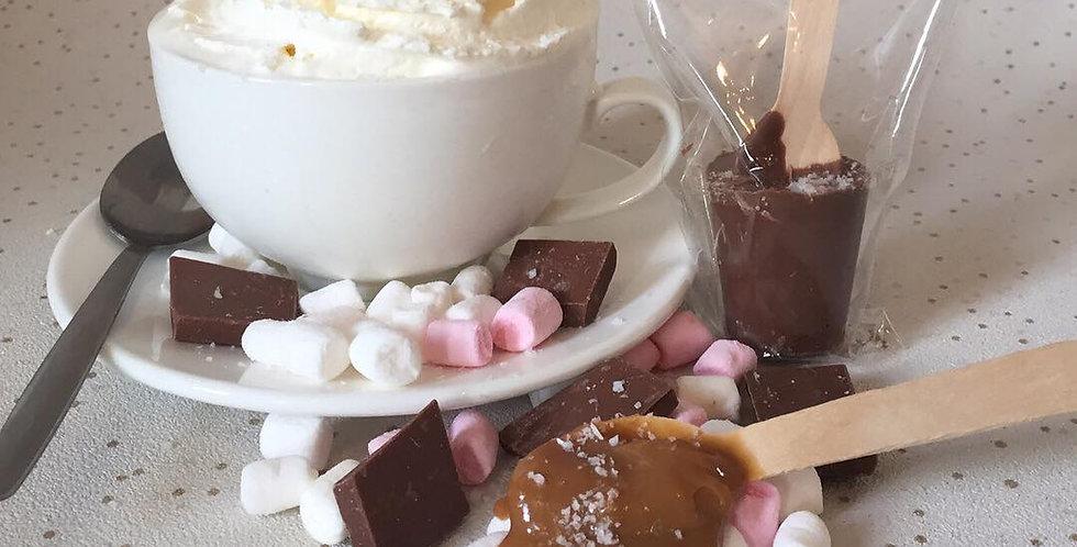 Salted Caramel Hot Chocolate Stirrer