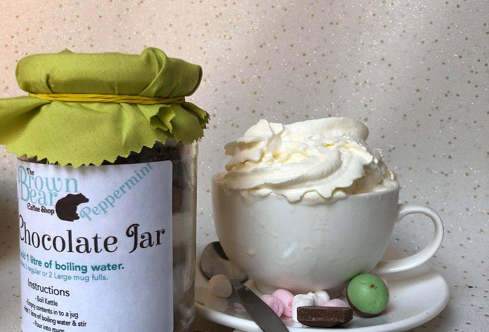Mint Hot Chocolate Jar