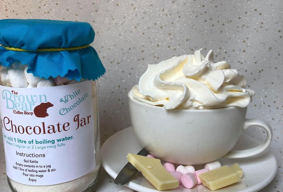 White Hot Chocolate Jar