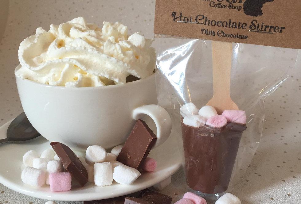 Hot chocolate stirrer