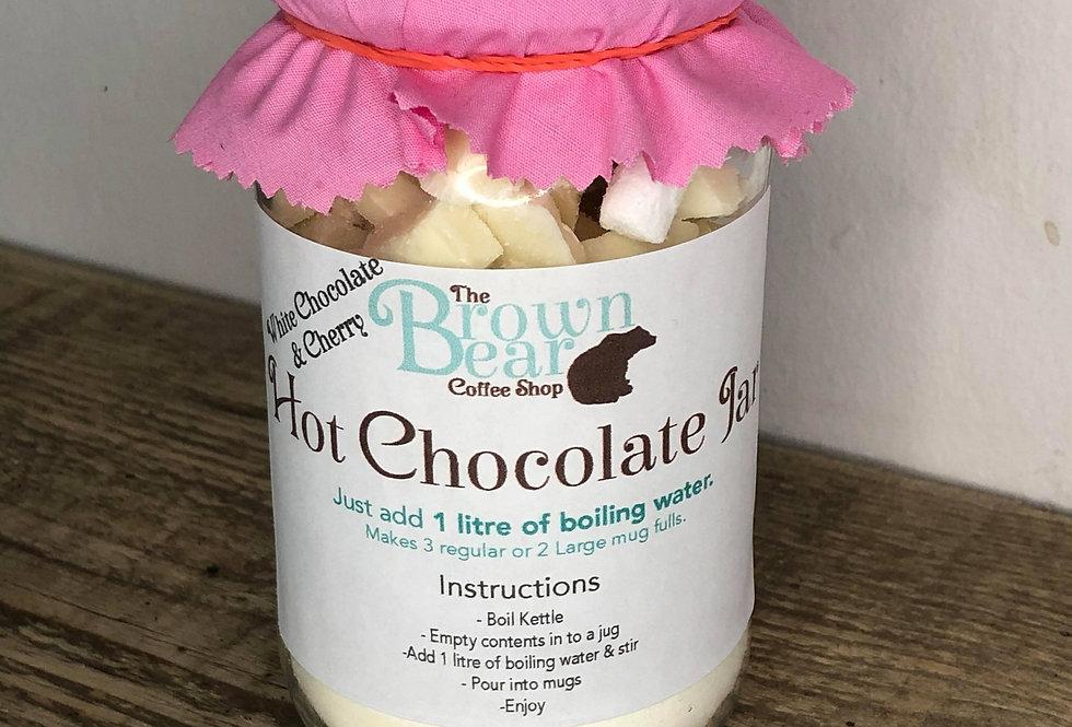 White Cherry Hot Chocolate Jar