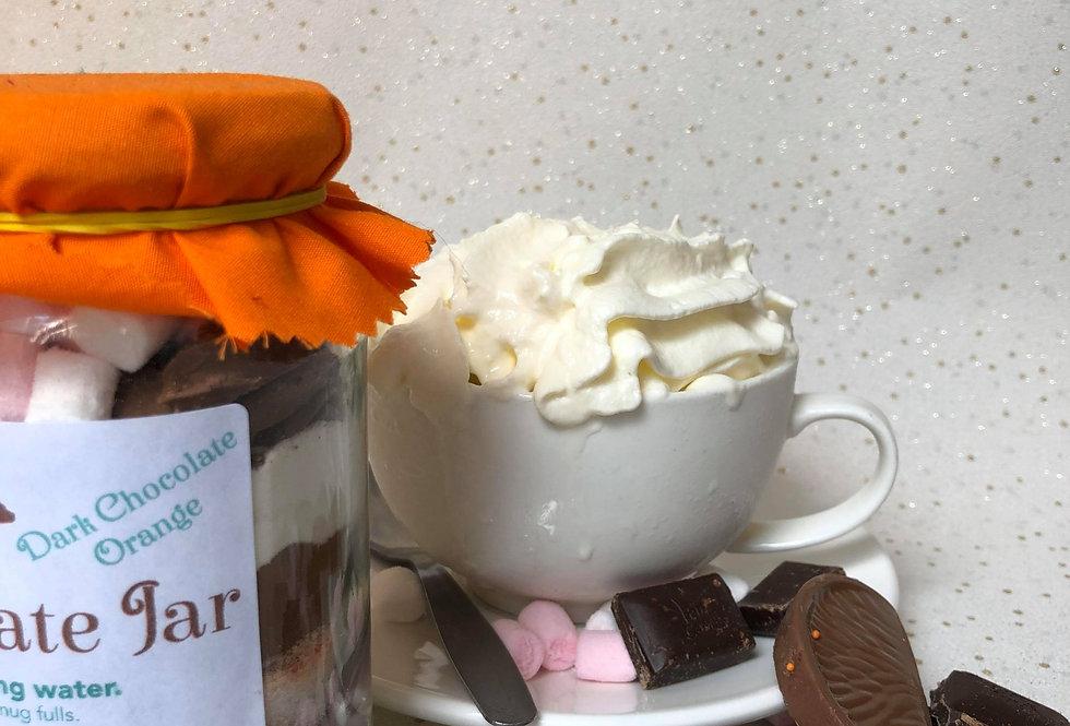 Dark Orange Hot Chocolate Jar
