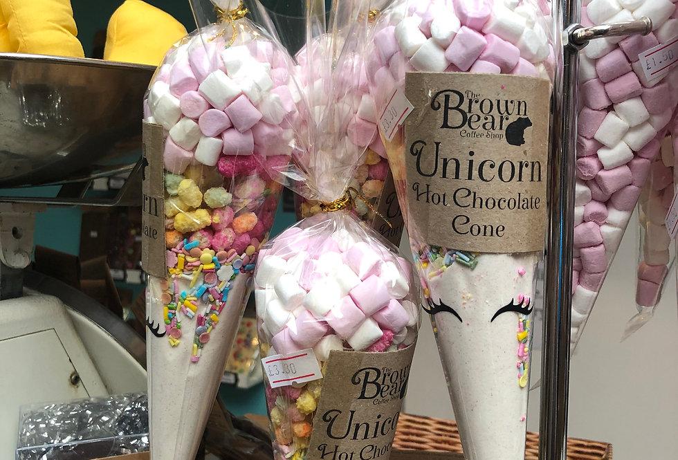 Unicorn Hot Chocolate Cone