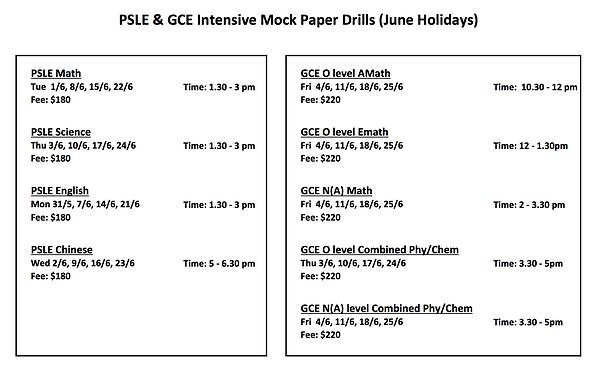 PSLE&GCE Jun2021