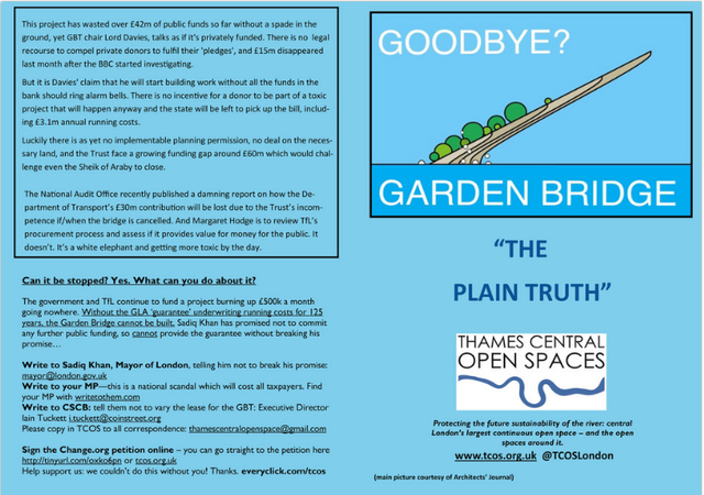 Our response to Garden Bridge Trust's latest misleading newsletter.