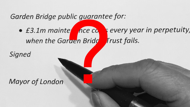 London Assembly to call for Mayor not to sign Garden Bridge guarantee