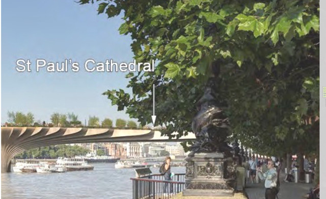 Garden Bridge Trust says its views of St Paul's Cathedral will be better than existing protected