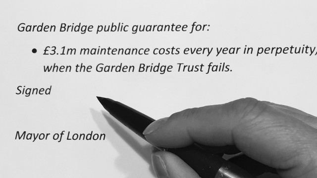 "Sadiq Khan dismisses Garden Bridge  question as Lord Davies issues another ""myriad of half-trut"