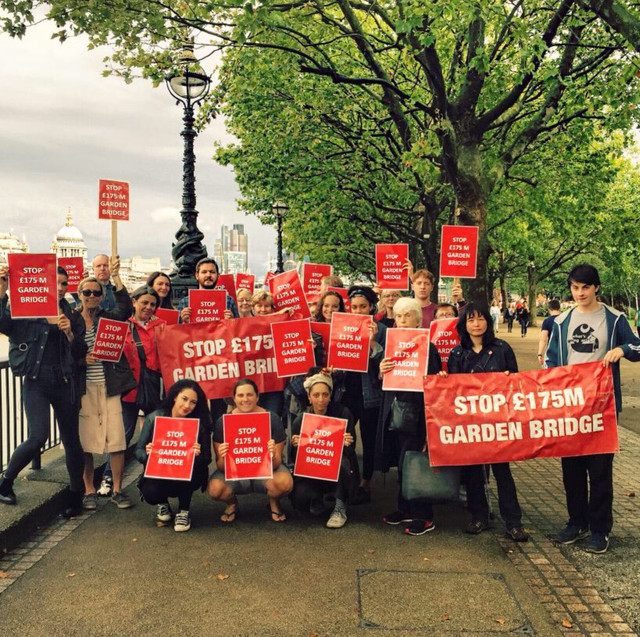 Vigil at Coin Street Neighbourhood Centre Monday 9th May 2016