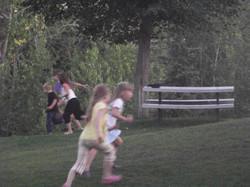 Girls Running to See...?