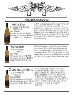 White Wine Sell Sheet